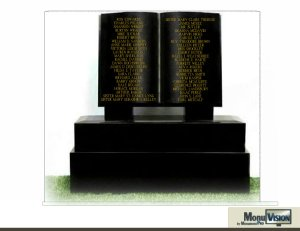 6x6 foot black granite book will be engraved with the names of the educators who have lost their lives in our nation's schools.